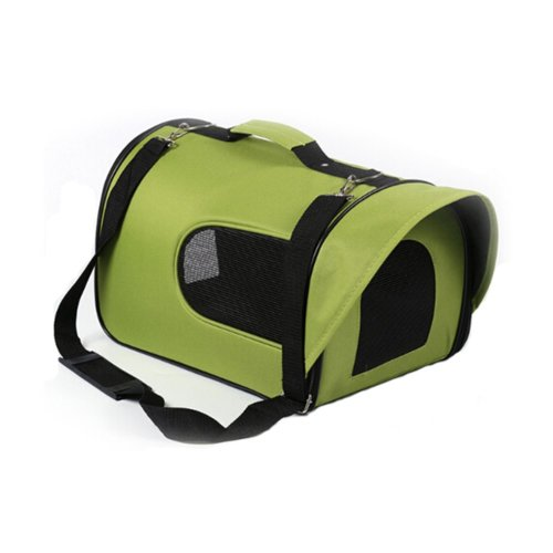 Pet Carrier Soft Sided Travel Bag for Small dogs & cats- Airline Approved, Green #43