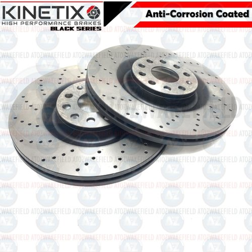 FOR VAUXHALL INSIGNIA 2017- FRONT DRILLED PERFORMANCE BRAKE DISCS PAIR 300mm