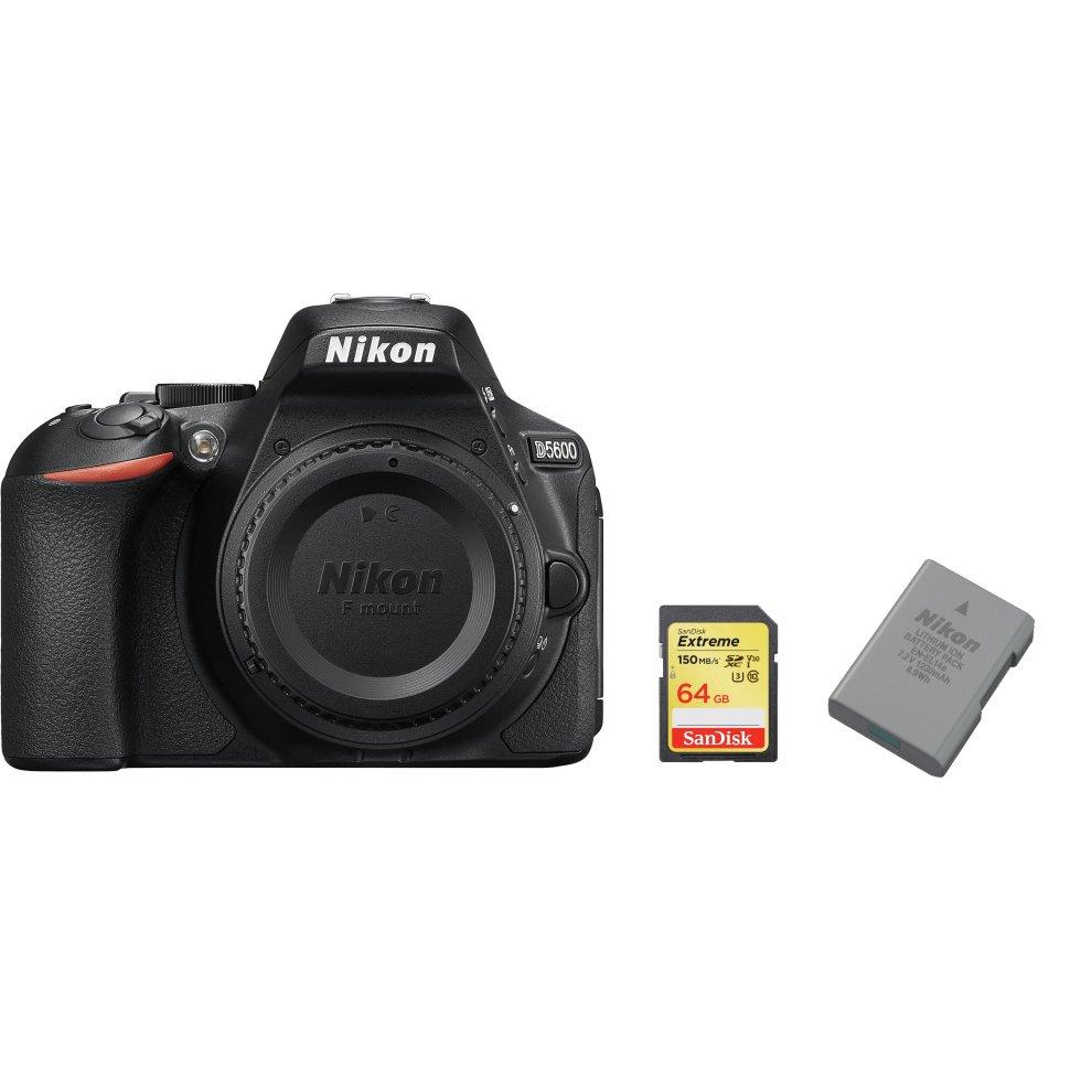 NIKON D5600 Body + SanDisk Extreme 64G SD card + EN-EL14A Battery