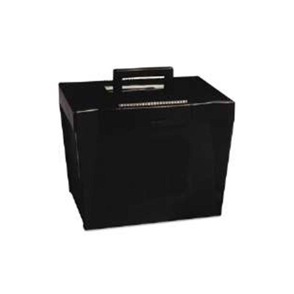 Pendaflex 20861 Portable File Storage Box, Letter, Plastic, 13 5 X 10 0 25  X 10 88, Black