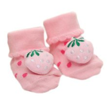 3 Pairs Non-slip Newborn Baby Toddler Socks Comfortable Warm Stockings Baby Birthday Gift For 6-12 month-A03