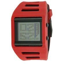 Diesel Digital Red Silicone Mens Watch DZ7226