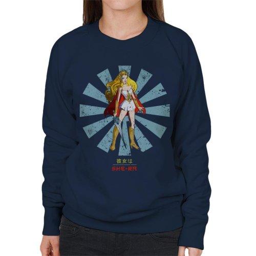 She Ra Retro Japanese Women's Sweatshirt