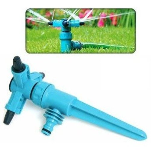 Adjustable Speed Rotating 3 Arm Garden Sprinkler - 360 Degree