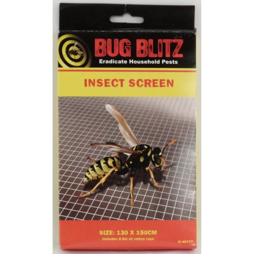 Bug Blitz Insect Screen | Window Fly Net 130 x 150cm
