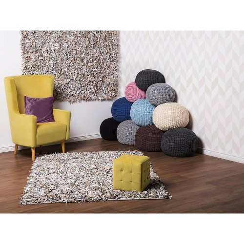 Ottoman - Floor Cushion - Knitted Pouffe - CONRAD