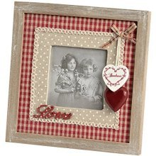 Photo Frame With Love Wording And Hanging Hearts -  photo frame love wording hanging hearts