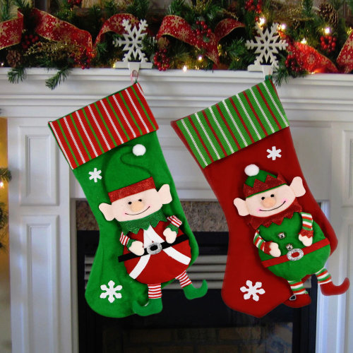 2pc Elf Christmas Stockings