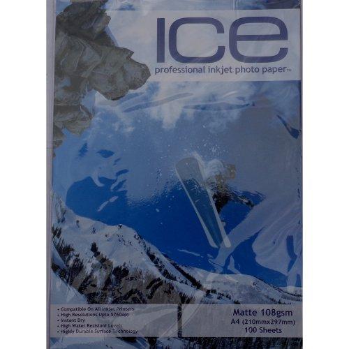 ICE A4 108gsm / 110gsm Single Sided Matte / Matt Photo Paper