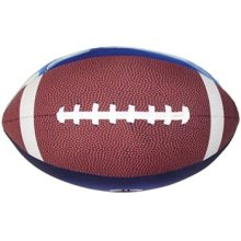 "iscream Game On! Football Shaped 16"" x 12"" x 12"" Photoreal Microbead Accent Pillow"