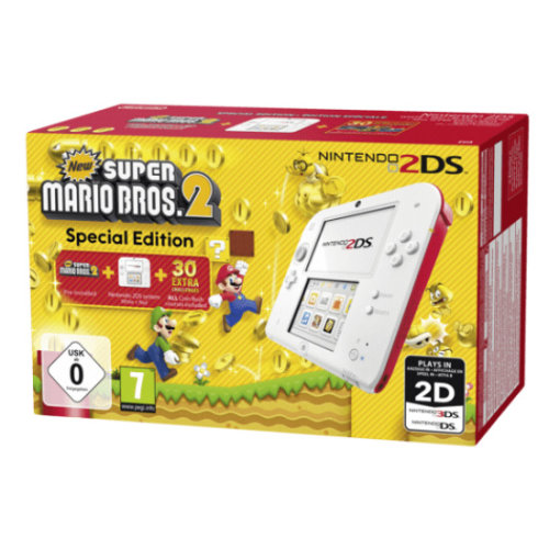 Nintendo 2DS white + red incl. New Super Mario Bros. 2