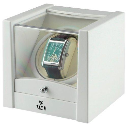Time Tutelary Unisex White Wood Watch Winder Ka079wt