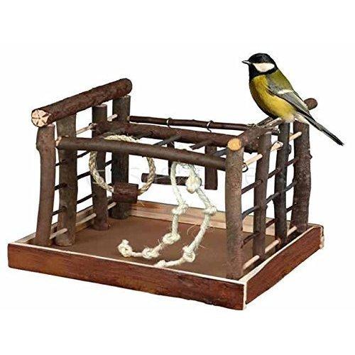 Redwood Leisure Natural Bird Play Ground - Budgie Canary Swing Wooden Play -  natural bird budgie canary swing wooden playground ladder perch pet fun