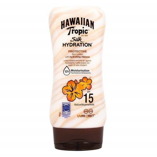 Hawaiian Tropic Silk Hydration SPF 15 Protective Sun Lotion - 180ml