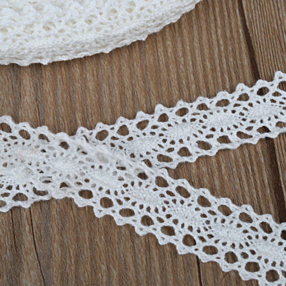Naler 20 Meters Lace Ribbon Cotton Crochet Lace Edging Trim Ribbon