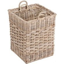 Set of 2 Rectangular Log Storage Basket in Kooboo Grey
