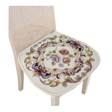 Creative Retro Style Seat Cushion Soft and Comfortable Chair Cushion, White