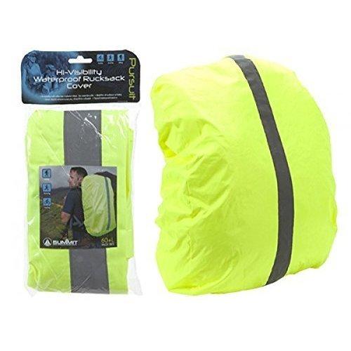 Summit Hi-vis Large Waterproof Rucksack Backpack Cover Camping Travelling -  waterproof cover rucksack backpack hivis high viz rain safety bike 3