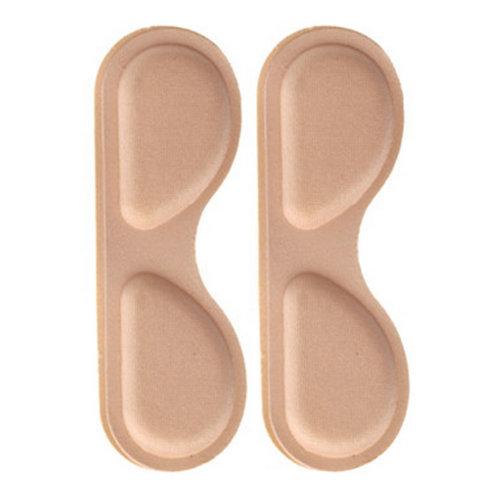 4 Pair Heel Cushions Padded Heel Grips Care Heel Snugs Heel Liners Apricot(D)
