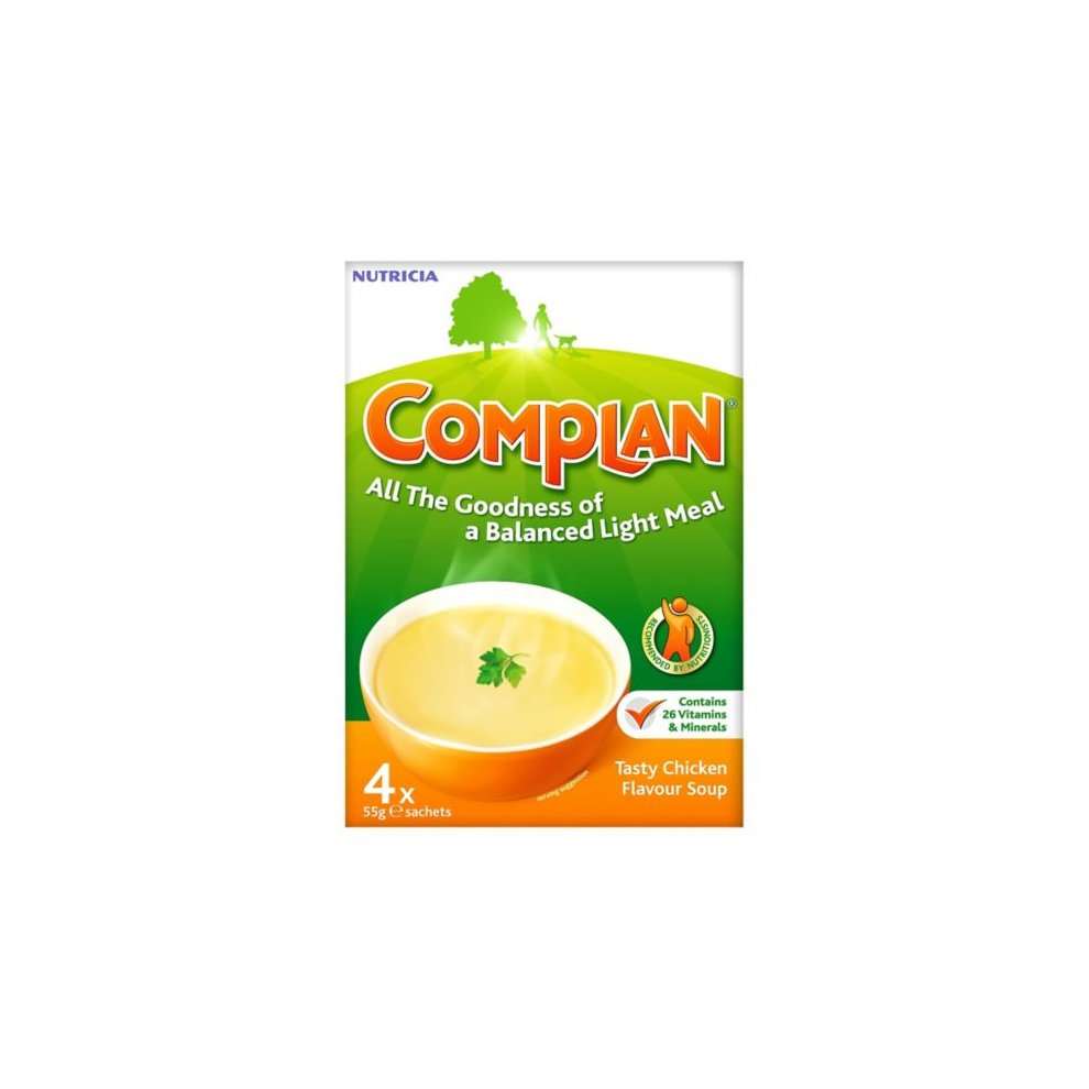 Complan Tasty Chicken Flavour Soup 4 X 55g Sachets
