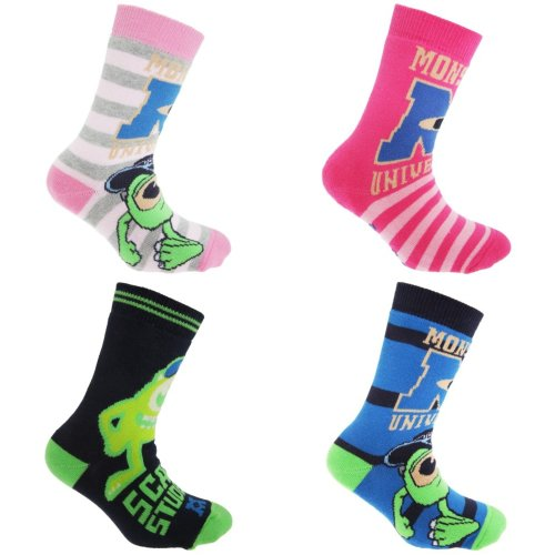 Disney Monsters University Official Childrens/Kids Slipper Socks (1 Pair)