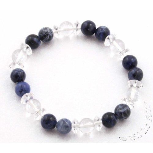 Sodalite and Crystal Gemstone Bracelet