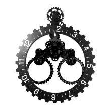 GoedYE 3D metal gear wall clock 55 CM - Classical black