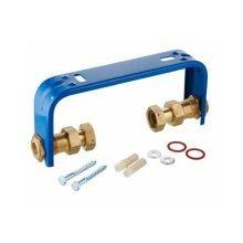 """Regulated Adjustable Water Meter Stress Relief Console Bracket 1/2"""" 3/4"""" Bsp"""