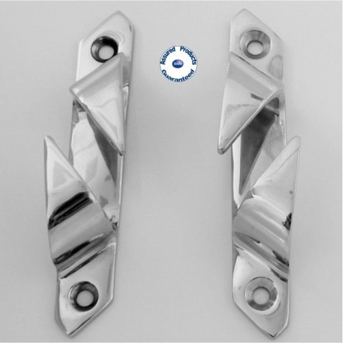 Pair of Mirror Polished Stainless Steel Fairleads 115mm