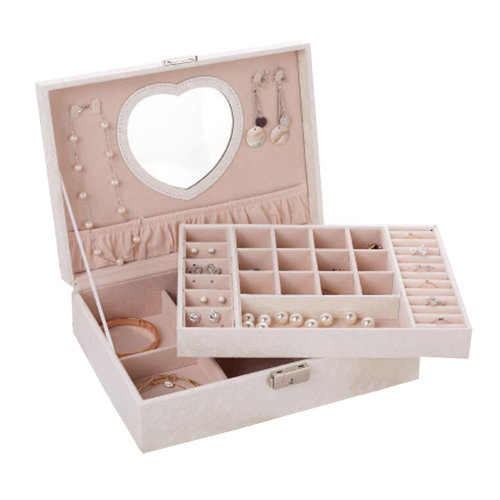 Big Travel Jewelry Box For Ring / Watch / Necklace / Earring -A18