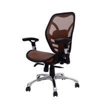 Homcom Mesh Chair Computer Desk Office Brown