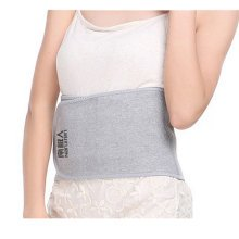 Breathable Elastic Back Waist Support Wrap Trimmer Lumbar Brace - Light Grey