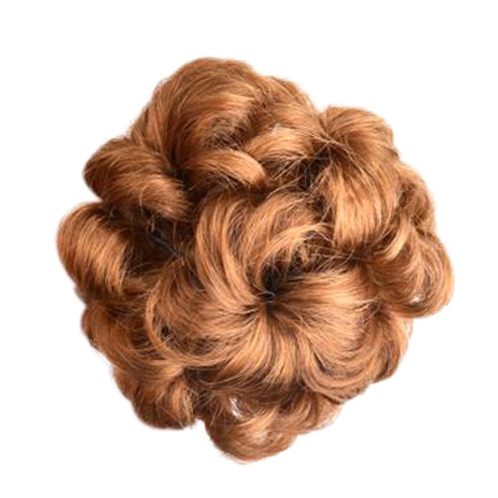 Womens Beautiful Human Fancy Hair Bun Donut Hair Bun Extension