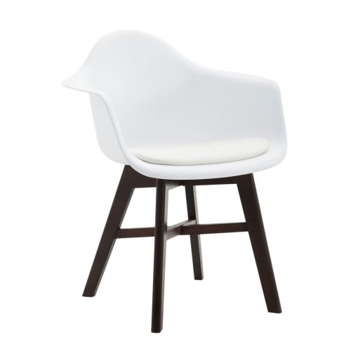 Visitor chair Calgary leatherette Cappuccino