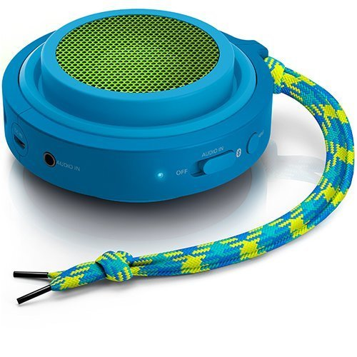 Philips FLEX BT2000A37 Wireless Portable Bluetooth Speaker BlueGreen