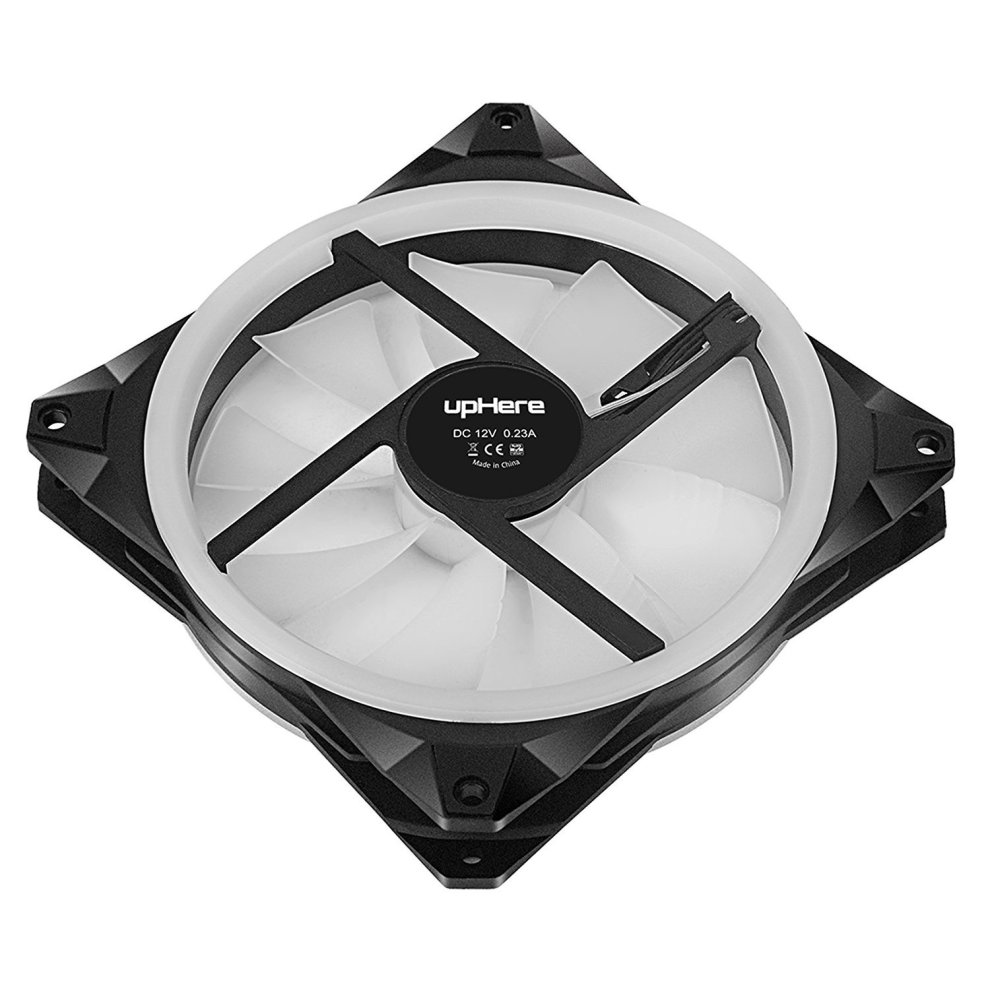upHere 140mm RGB LED Computer Case PC Cooling Fan, ultra Quiet High Airflow  Adjustable Color LED Case Fan with remote controller- 5 Pack (RGB143-5)