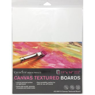 "Crescent Canvas Board 3/Pkg-11""X14"" White"