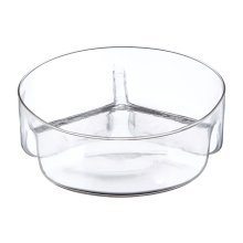 3 Equal Section Clear Glass Serving Dish