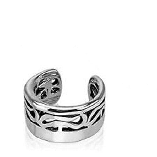 Tribal Design Bold Fake Ear Cuff Tragus or Cartilage Non-Piercing