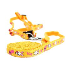 Durable Dog Collar Leash Strap For Puppy Pet,yellow