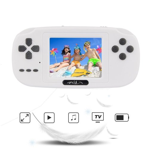 Rongyuxuan Handheld Game Console, 2.8 Inch LCD PVP Game Player USB Charged Classic Handheld Game Console 168 Games Built-in, Birthday for Children