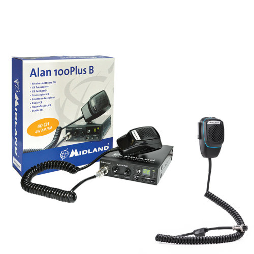 Bundle   CB Radio Midland Alan 100 CB radio + Dual Mike smart microphone with 4-pin Bluetooth