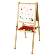 "Arkmiido Wooden Easel Board,3 in 1,blackboard for kid,Height Adjustable,21.7""x52.4"""