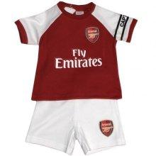 Official Arsenal Baby Core Kit T-shirt & Shorts Set - 2017/18 Season (3-6
