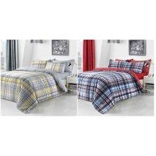 Check Printed Duvet Cover Fine Bedding Set All sizes