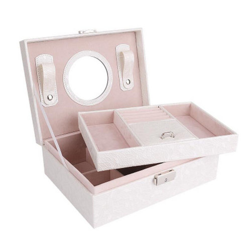 Big Travel Jewelry Box For Ring / Watch / Necklace / Earring -A9