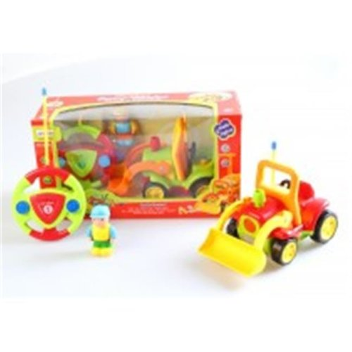 Az Import & Trading MC06G Cartoon RC Construction Truck for Toddlers Green, 4 in.