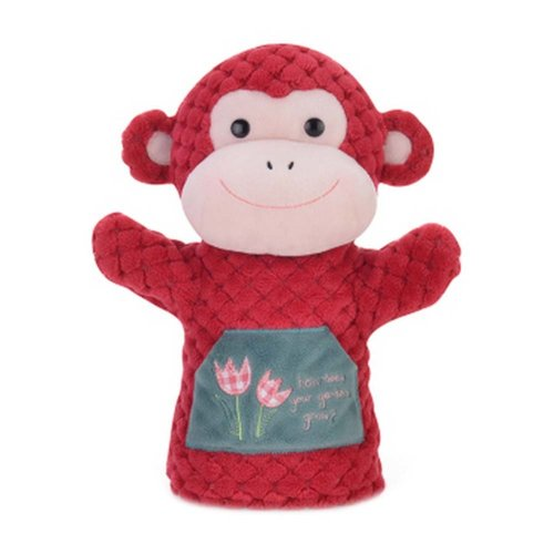 Early Learning Dolls Animal Puppets Fancy Toy Hand Puppets Monkey Model RED