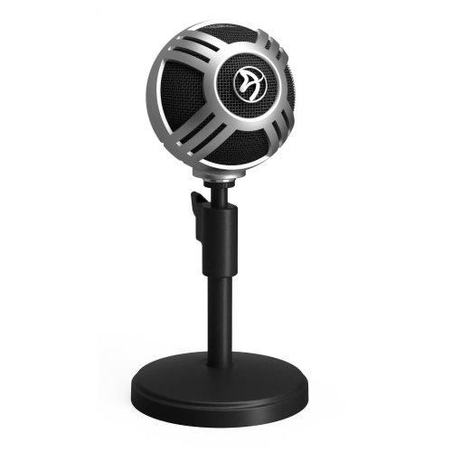 Arozzi Sfera Pro Table microphone Wired Black, Silver