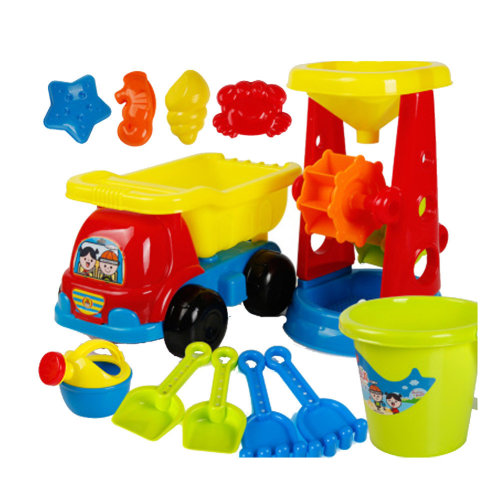 12 Piece Beach sand Toy Set, Bucket, Shovels, Rakes,Perfect for Holding Childrens' Toys#E